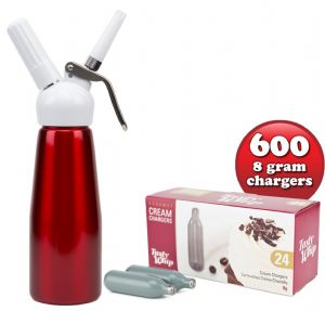 600 Tasty Whip chargers & 1/2 litre Tall cream dispenser.  Choice of 5 Colours. FREE DELIVERY
